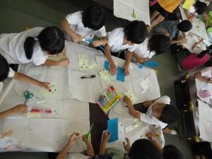 工作教室・紙相撲(1)