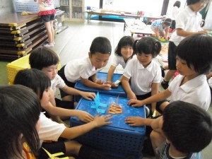 工作教室・紙相撲(3)