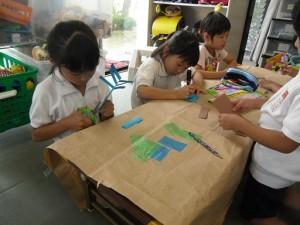 工作教室・紙相撲(2)